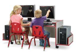 Wholesale Rainbow Accents Enterprise Double Computer Desk - Black