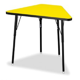 Wholesale Berries Tall Trapezoid Desk - Yellow/black/all Black