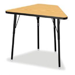 Wholesale Berries Tall Trapezoid Desk - Oak/black/all Black