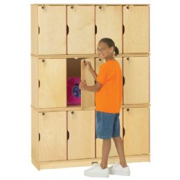 Wholesale JontI-Craft Stacking Lockable Lockers - Triple Stack - Thriftykydz