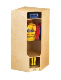 Wholesale JontI-Craft Corner Coat Locker With Step