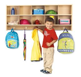 Young Time 10 Section Wall Mount Coat Locker - Young Time