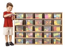 Wholesale Young Time 25 CubbiE-Tray Storage - With Clear Trays