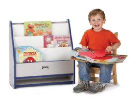 Wholesale Rainbow Accents Toddler PicK-A-Book Stand - Blue