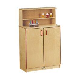 Wholesale JontI-Craft School Age Natural Birch Play Kitchen Cupboard