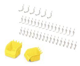 Wholesale JontI-Craft Pegboard Hooks & Bins - 43 Piece Set
