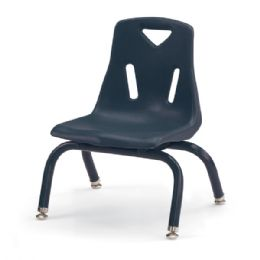 """Berries Stacking Chair With PowdeR-Coated Legs - 8"""" Ht - Navy - Seating"""