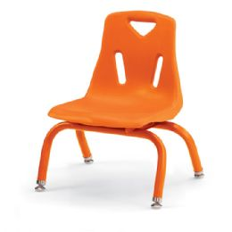 """Berries Stacking Chair With PowdeR-Coated Legs - 8"""" Ht - Orange - Seating"""