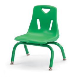 """Berries Stacking Chair With PowdeR-Coated Legs - 8"""" Ht - Green - Seating"""