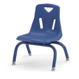 """Berries Stacking Chairs With PowdeR-Coated Legs - 8"""" Ht - Set Of 6 - Blue - Seating"""