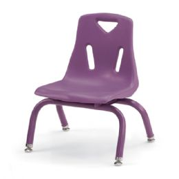 """Berries Stacking Chairs With PowdeR-Coated Legs - 8"""" Ht - Set Of 6 - Purple - Seating"""