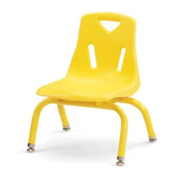"""Berries Stacking Chairs With PowdeR-Coated Legs - 8"""" Ht - Set Of 6 - Yellow - Seating"""