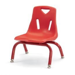 """Berries Stacking Chairs With PowdeR-Coated Legs - 8"""" Ht - Set Of 6 - Red - Seating"""