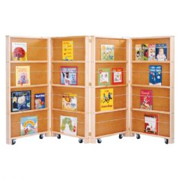 Wholesale JontI-Craft Mobile Library Bookcase - 4 Sections