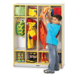 Wholesale Rainbow Accents 4 Section Coat Locker - Red