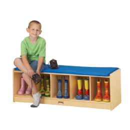 Wholesale JontI-Craft 5 Section Bench Locker - Blue Cushion