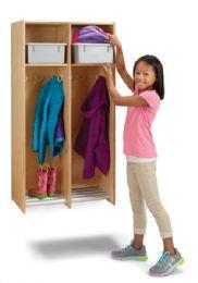 Wholesale JontI-Craft 2 Section Hanging Locker - With Platinum Tubs