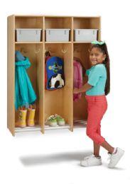 Wholesale JontI-Craft 3 Section Hanging Locker - With Platinum Tubs