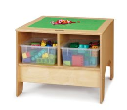 Wholesale JontI-Craft Kydz Building Table - Traditional Brick Compatible - With Clear Tubs