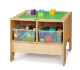 Wholesale JontI-Craft Kydz Building Table - Preschool Brick Compatible - With Clear Tubs