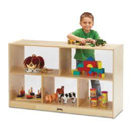 Wholesale JontI-Craft Low Single Mobile Storage Unit - SeE-Thru Back