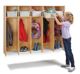 Wholesale JontI-Craft 5 Section Hanging Locker - With Platinum Tubs