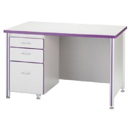 "Wholesale Berries Teachers' 48"" Desk With 1 Pedestal - Maple"