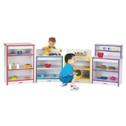 Wholesale Rainbow Accents Toddler Stove - Blue