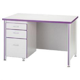 """Wholesale Berries Teachers' 66"""" Desk With 2 Pedestals - Oak"""
