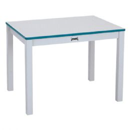 """Wholesale Rainbow Accents MultI-Purpose Rectangle Table - 24"""" High - Teal"""