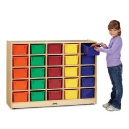 Wholesale JontI-Craft 25 CubbiE-Tray Mobile Storage - With Clear Trays