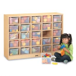 Wholesale Maplewave 25 CubbiE-Tray Mobile Storage - With Clear Trays