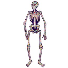 12 Bulk Jointed Day Of The Dead Skeleton