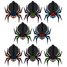 12 of Mini Tissue Spiders 6' Cord Included