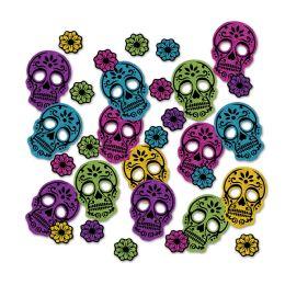 12 Units of Day Of The Dead Deluxe Sparkle Confetti MultI-Color - Streamers & Confetti