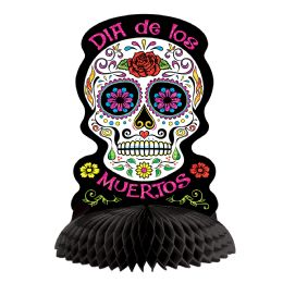 12 of Day Of The Dead Centerpiece Glitter Print