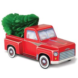 12 of 3-D Christmas Truck Centerpiece 1-6  Tissue Christmas Tree Included; Assembly Required