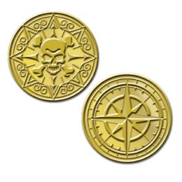 12 Bulk Plastic Pirate Coins Molded Coins W/embossed Design
