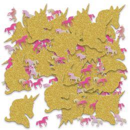 12 Units of Unicorn Deluxe Sparkle Confetti Gold & Iridescent - Streamers & Confetti