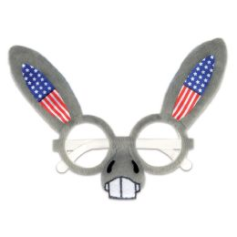12 Units of Patriotic Donkey Glasses One Size Fits Most - 4th Of July
