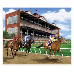 6 Wholesale Horse Racing InstA-Mural Photo Op Complete Wall Decoration
