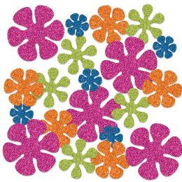 12 Units of Retro Flower Deluxe Sparkle Confetti MultI-Color - Streamers & Confetti