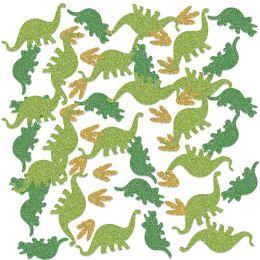 12 Units of Dinosaur Deluxe Sparkle Confetti Gold, Green, Lt Green - Streamers & Confetti