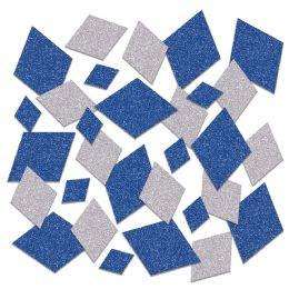 12 Units of Oktoberfest Deluxe Sparkle Confetti Blue & Silver - Streamers & Confetti