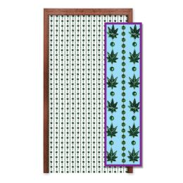 Wholesale Weed Bead Curtain Includes: 2-12  Plastic Tracks, 10-Beaded Curtain Strands, 8-Screws
