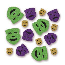 12 Units of Mardi Gras Deluxe Sparkle Confetti Gold, Lt Green, Purple - Streamers & Confetti