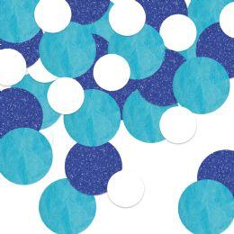 12 Units of Dot Deluxe Sparkle Confetti Blue, Lt Blue, White - Streamers & Confetti