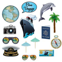 12 Wholesale Bon Voyage Photo Fun Signs Prtd 2 Sides W/different Designs