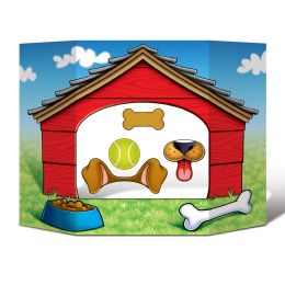 6 Wholesale Dog House Photo Prop Prtd 2 Sides W/different Colors; 4 Hand Held Props Included