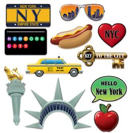 12 Wholesale New York City Photo Fun Signs Prtd 2 Sides W/different Designs